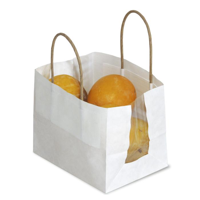 Bolsa de papel con ventana sin asas