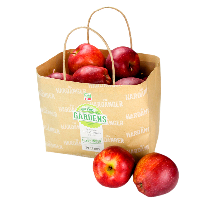 Wet strength paper bag without ventilation for apples