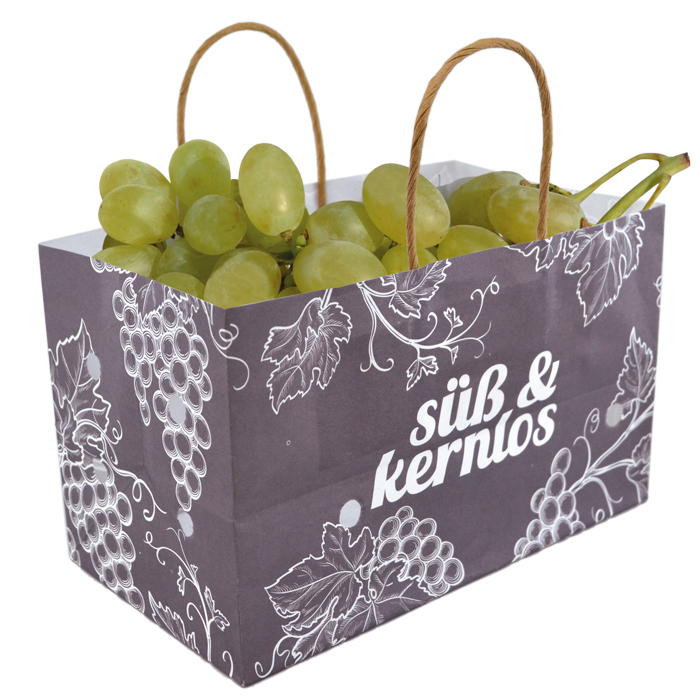 Wet strength paper bag with ventilation for grape
