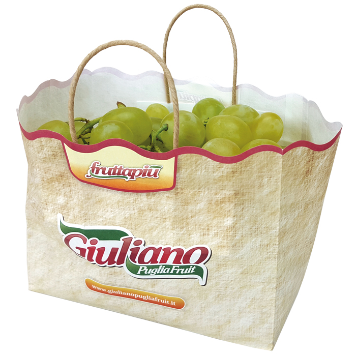 Wet strength paper bag without ventilation for grape