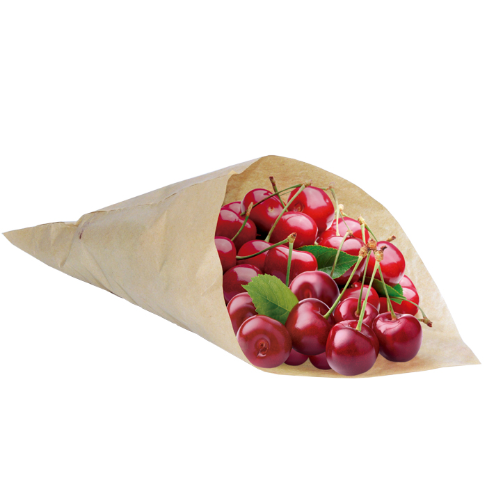 Conical paper bags for food